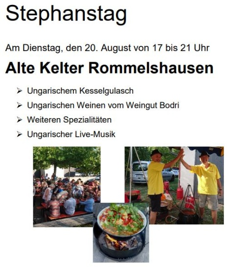 Plakat Stephanstag 2019